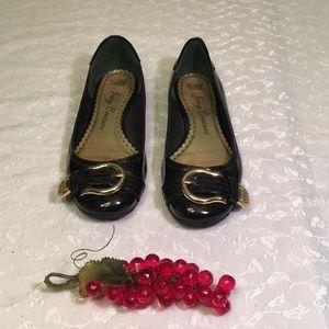 Juicy Couture size 9 black ballet flats